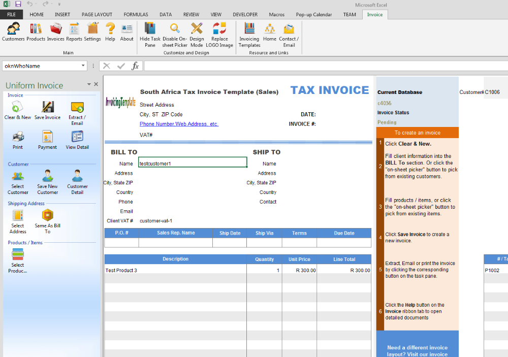 South Africa Tax Invoice Template Sales Inside South African Invoice Template 10 Professional Templ Invoice Template Invoice Template Word Business Template
