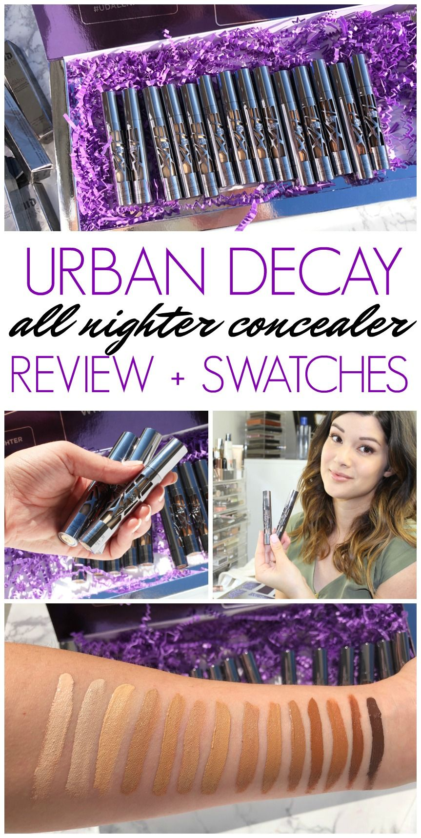 Urban Decay All Nighter Concealer Full Collection Swatches Diy