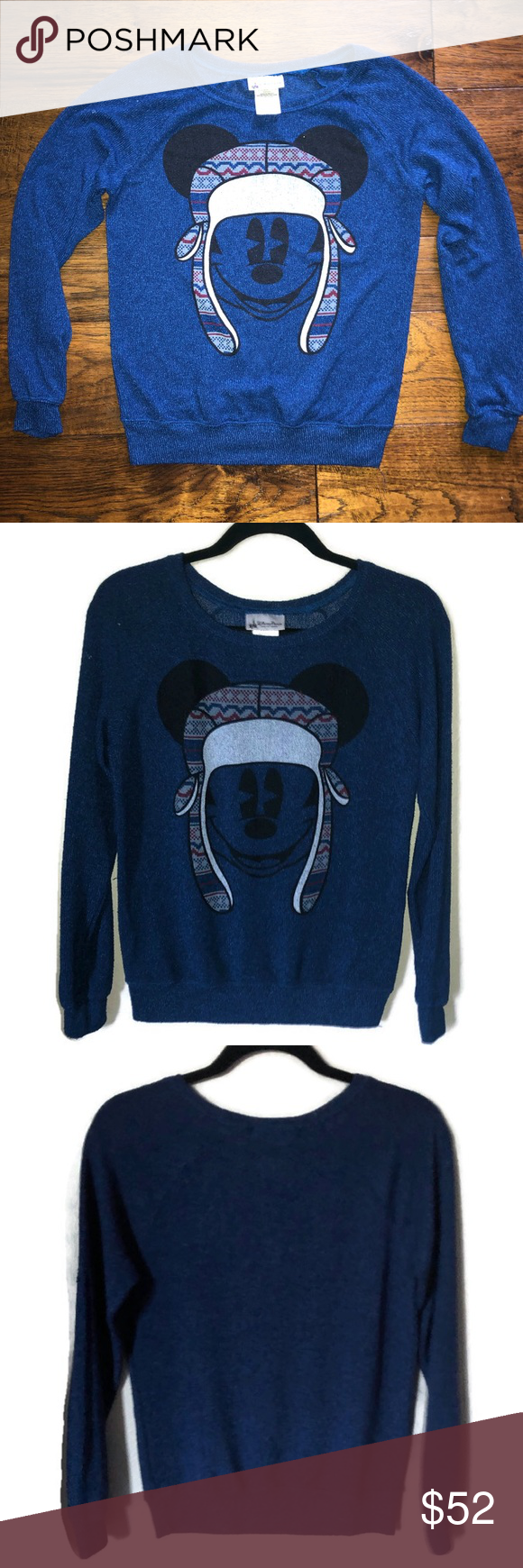 Disney's Mickey Mouse Blue LS Winter Sweater Disney's Mickey Mouse Blue LS R…