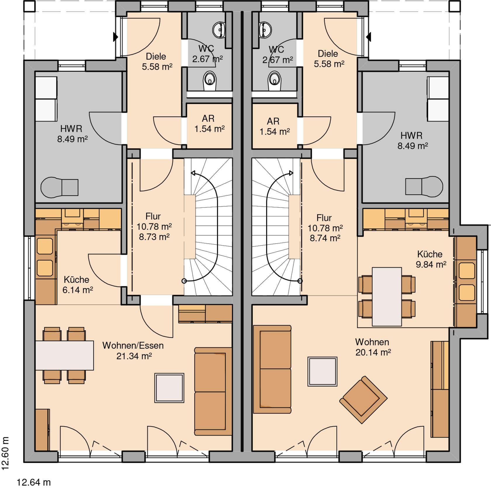 Küchenplan grundriss häuser  birgit  pinterest  haus tiny houses and house