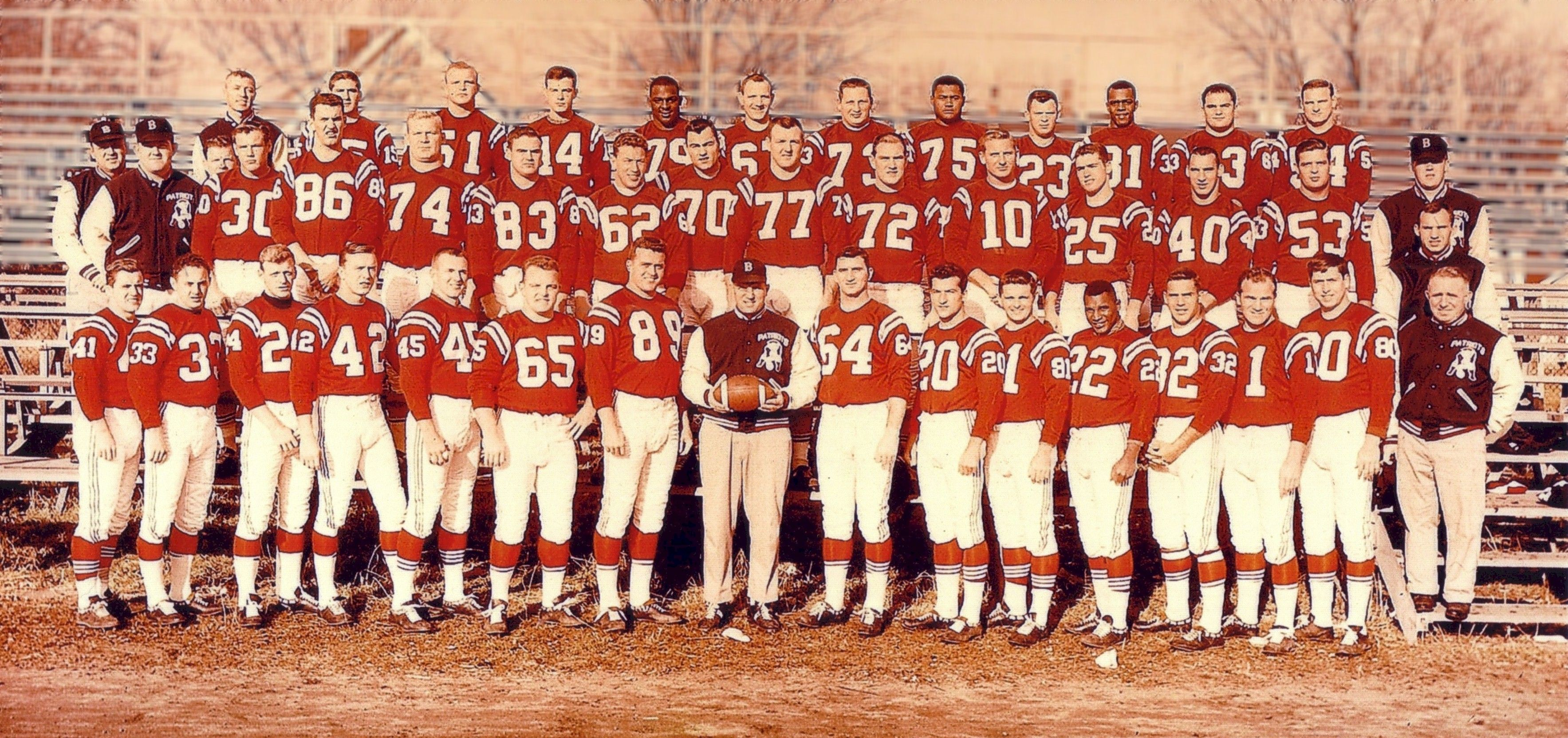 1960 Boston Patriots First Original Team Patriots Team American Football League Team Photos