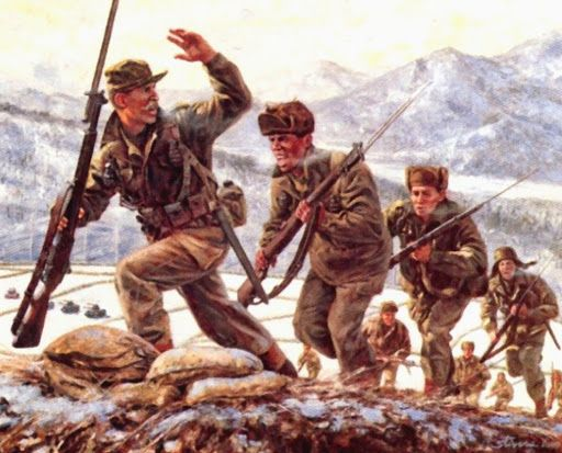 US Infantry during the Korean War.
