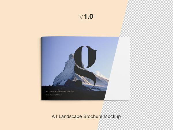 A4 Landscape Brochure Mockup Mockup and Brochures - landscape brochure