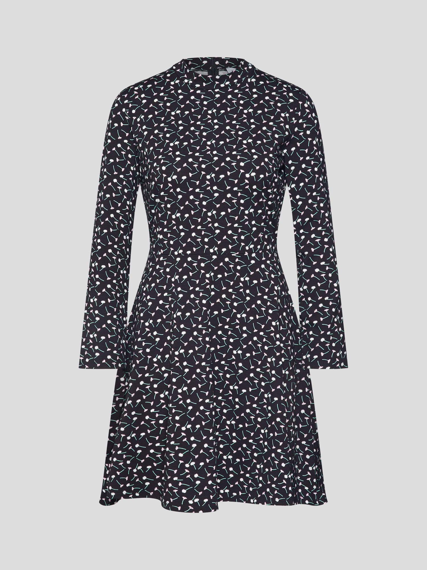 EDITED Kleid 'Inesa' Damen, Pink / Schwarz / Weiß, Größe 34
