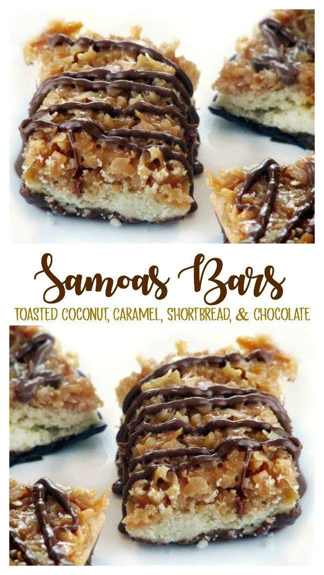Samoas Bars Recipe: Better Than Girl Scout Cookies!