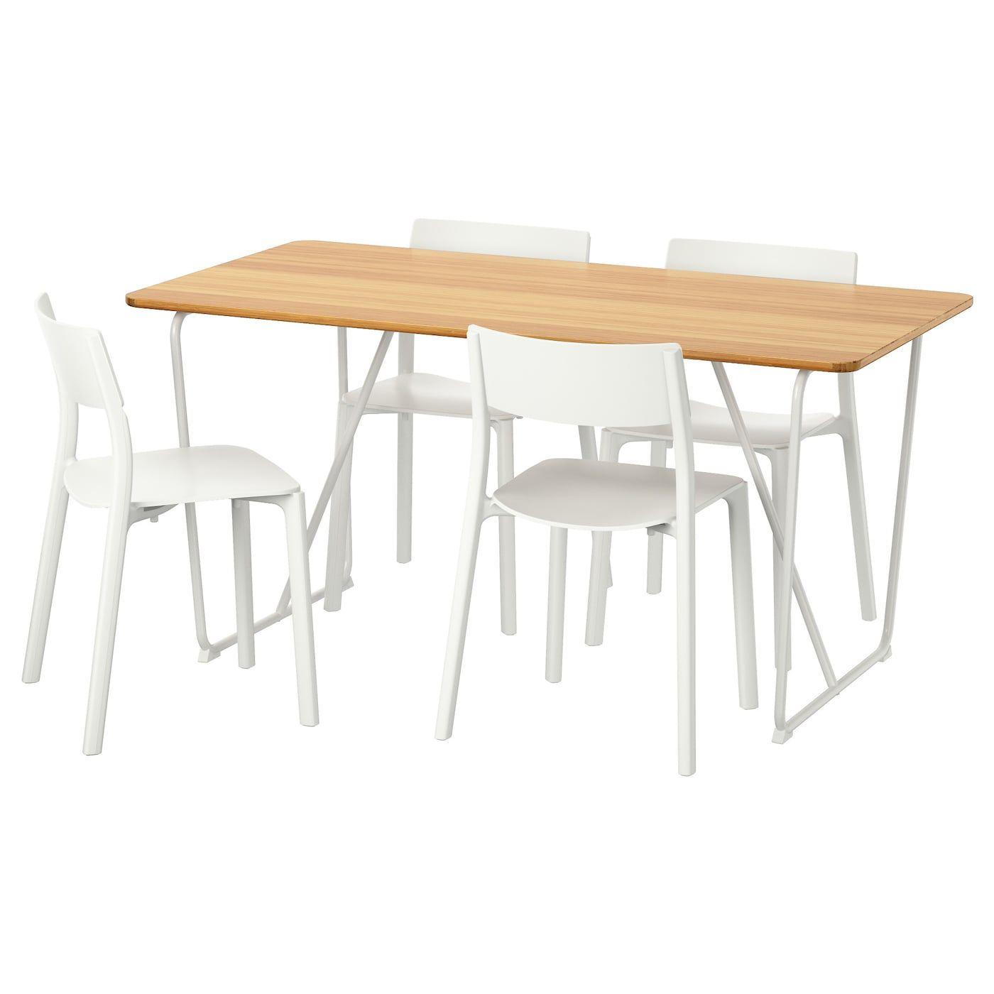 Ovraryd Janinge Mesa Con 4 Sillas Blanco Bambu Blanco Ikea Ikea Dining Ikea Dining Sets Ikea [ 1400 x 1400 Pixel ]