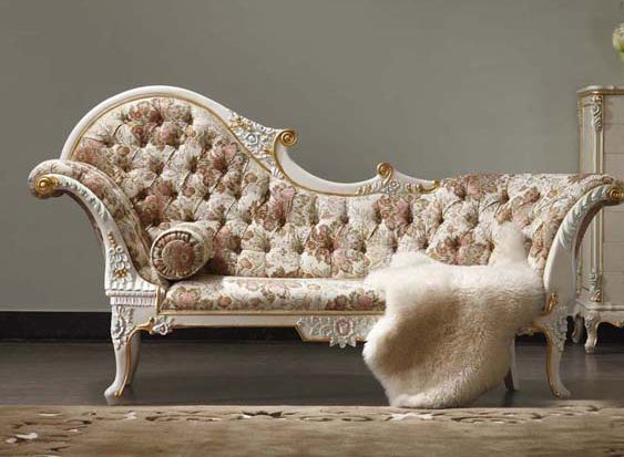 2015 Royal Italian Baroque Style Carved Wood Bed European Classical French  2.2 M Chaise Lounge Chairs Chaise Couch