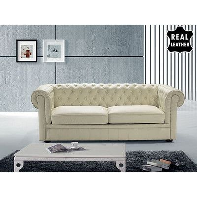 Russell Chesterfield Sofa Furniture Leather Sofa