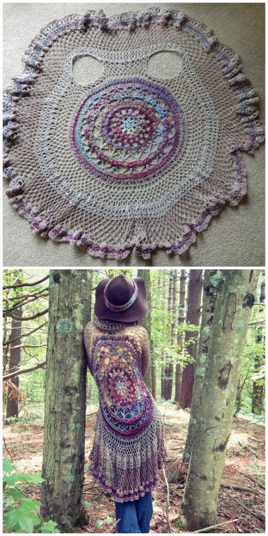 Crochet Mandala Vest Free Pattern | fabulous clothes | Pinterest ...