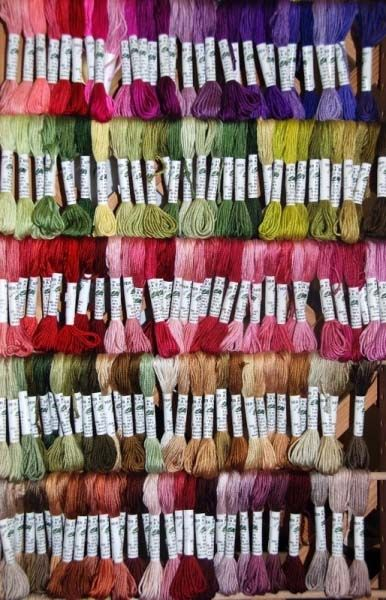 50 Skeins Large Silk Stranded Glitter Twisted Embroidery Threads 50 dif Colours