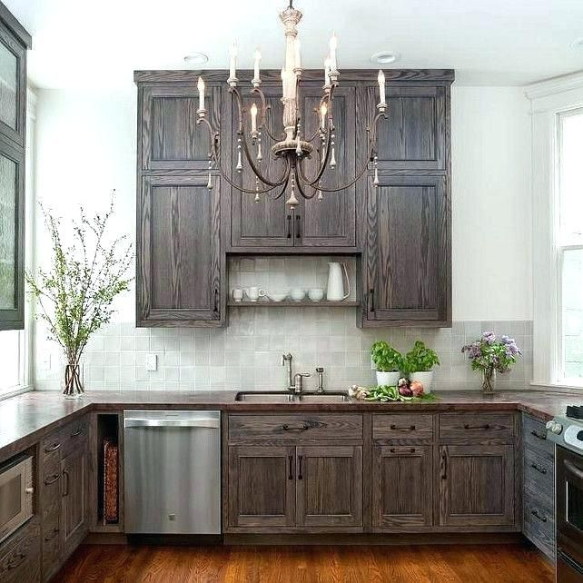 Staining Oak Cabinets Best Way To Stain Kitchen