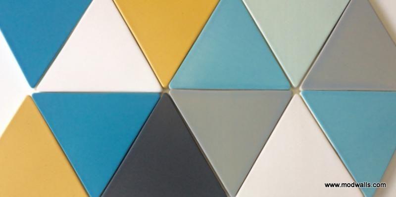 Modwalls Basis Triangle 8 Ceramic Tile