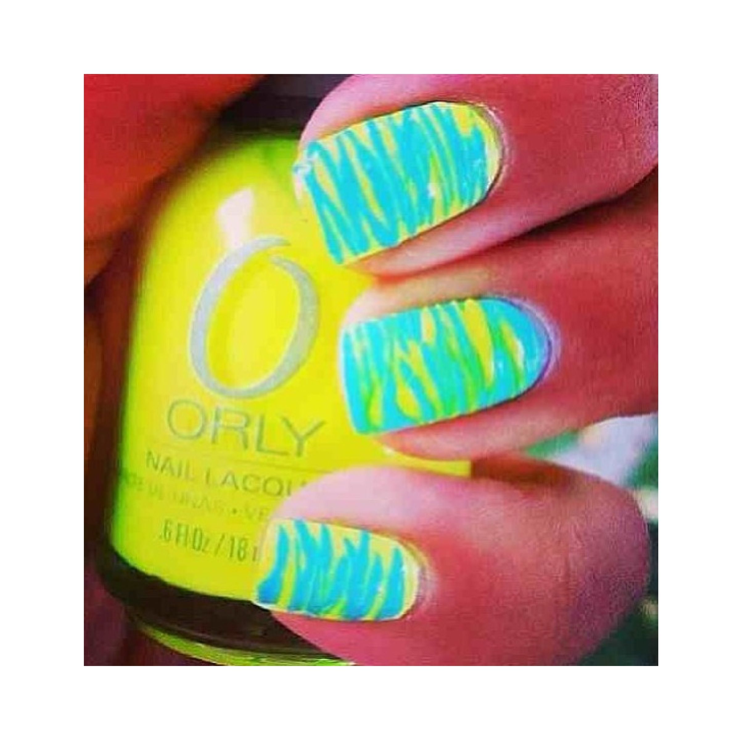 Zingzag lime green with yellow.. | All kinds of nail designs | Pinterest