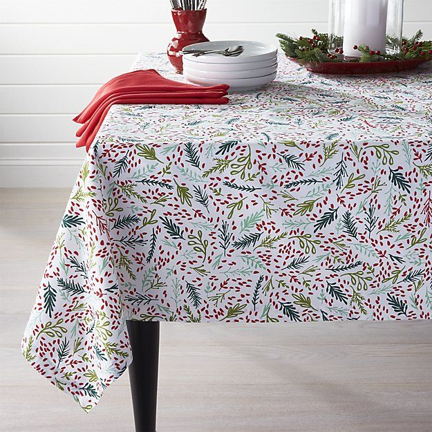 Eve Tablecloth 60 X120 Crate And Barrel Table Cloth Home