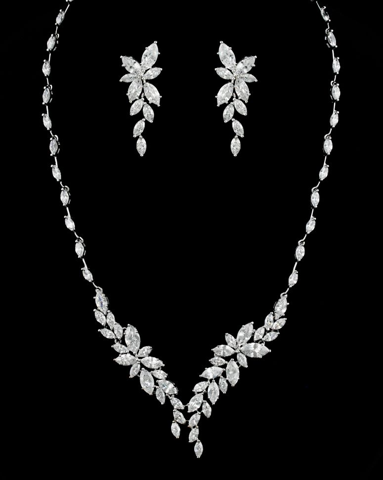 Stunning Marquise CZ Crystal Bridal Jewelry Set   Formal, Crystals ...