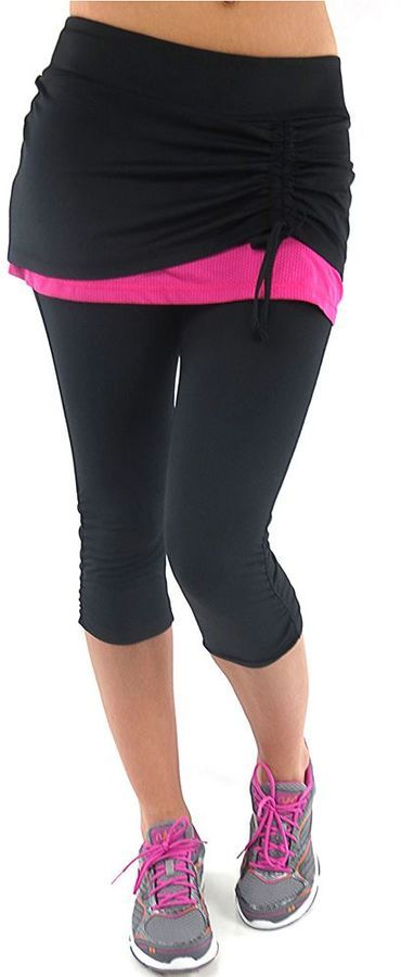 e3679b3e5f4 Plus Size Ryka Excel Skirted Capri Workout Leggings     Check this awesome  product by going to the link at the image.