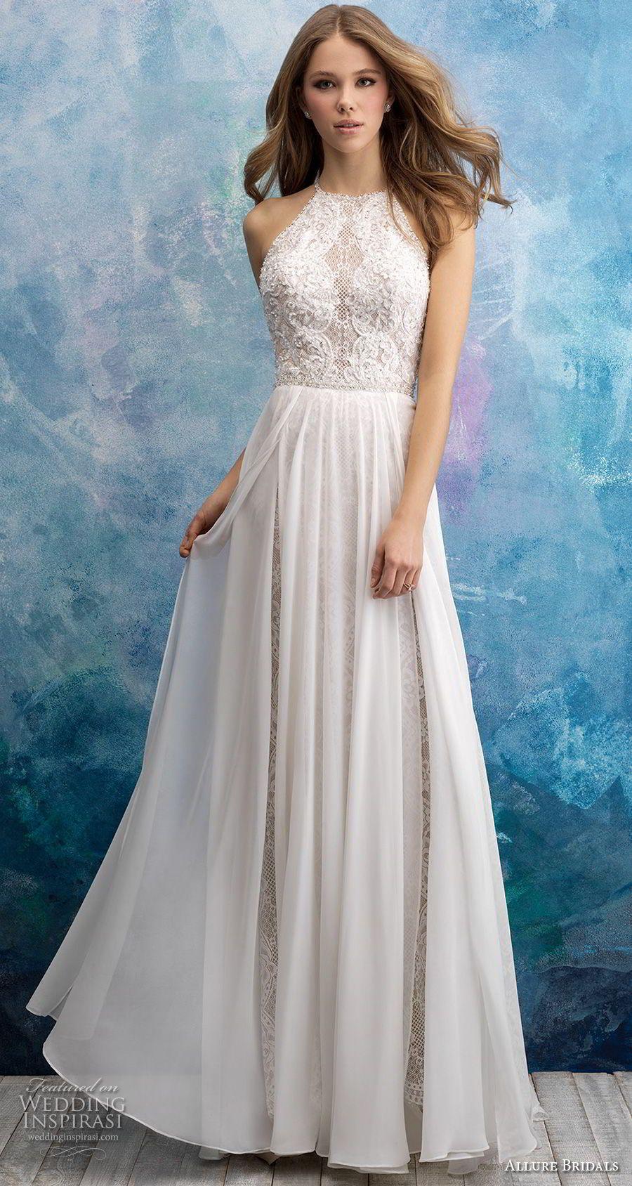 Allure Bridals Fall 2018 Wedding Dresses   Allure bridal, Chapel ...