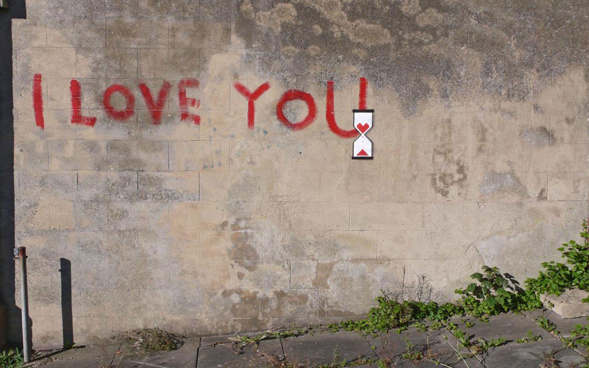 Grafitti art quote - Photo Art Love Wallpapers Free Download