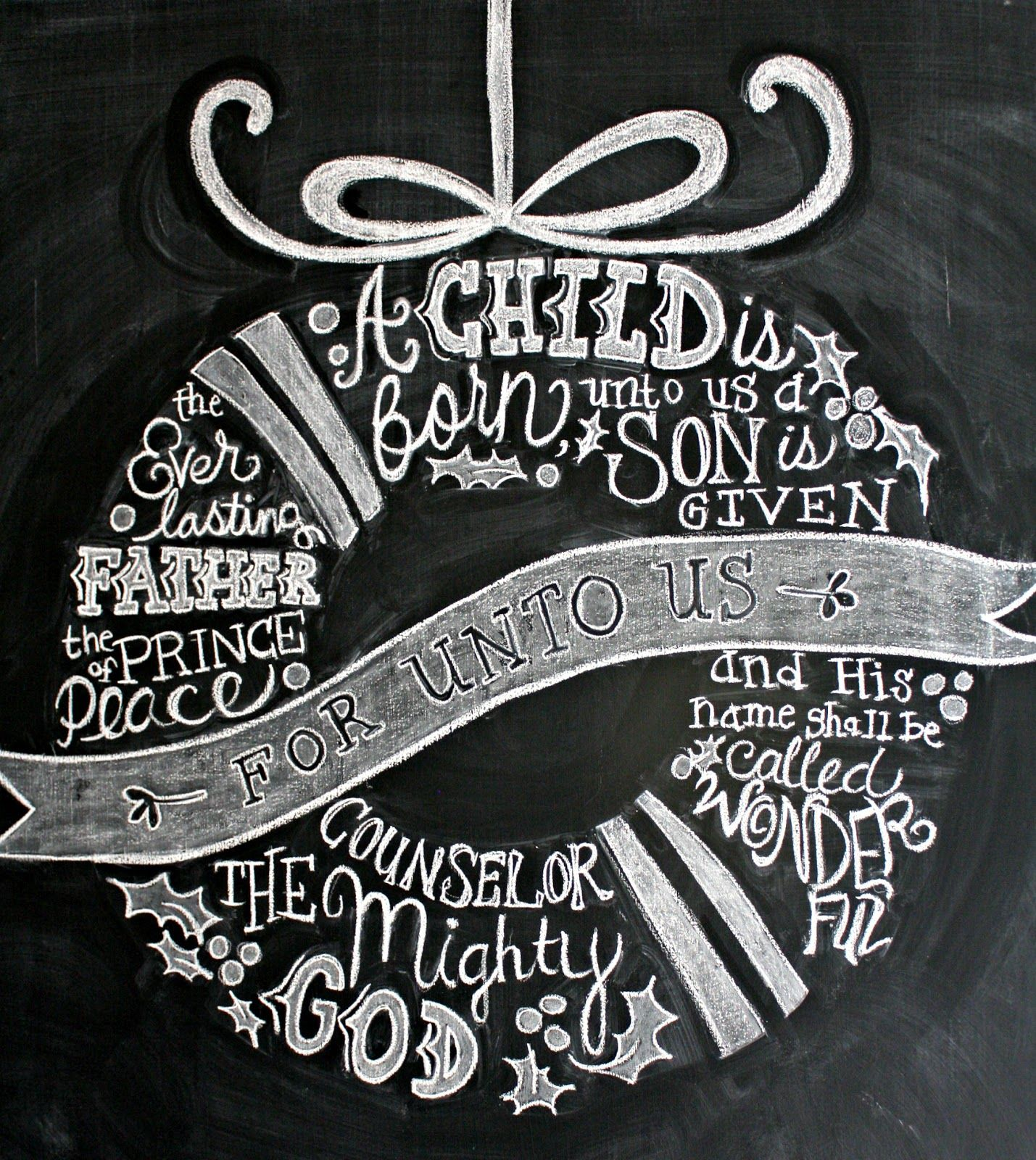 Ambiance Et Style Tableau christmas chalkboard   noël tableau, tableau noir et esprit