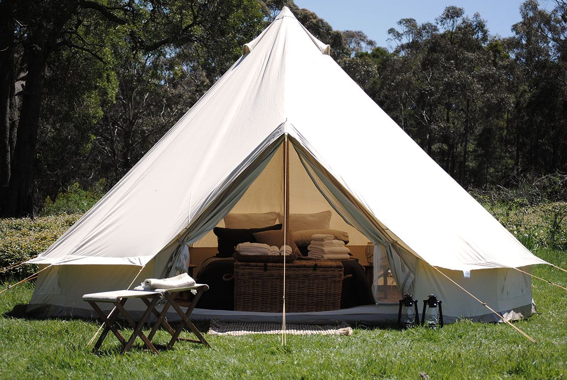 glamping luxury camping in daylesford victoria cosy tents