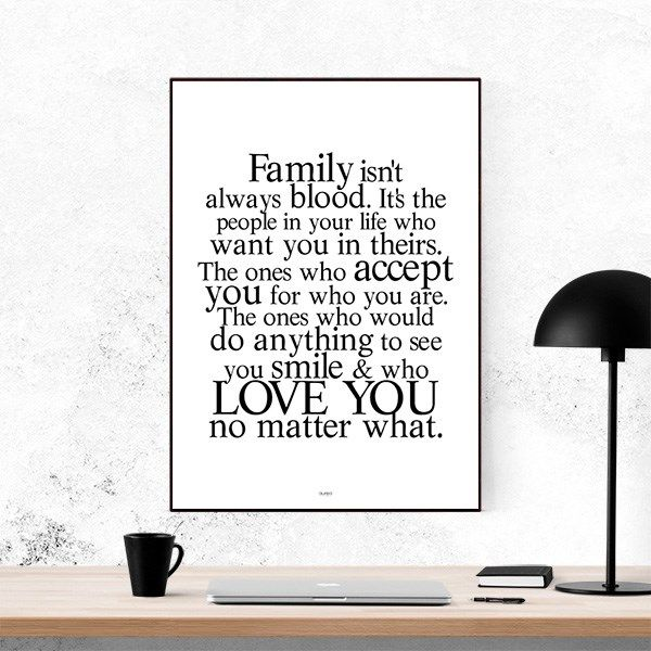 Plakat - Family and Friends