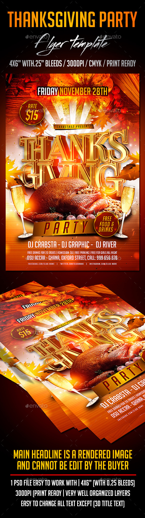 Thanksgiving Party Flyer Template Psd And Http Graphicriver