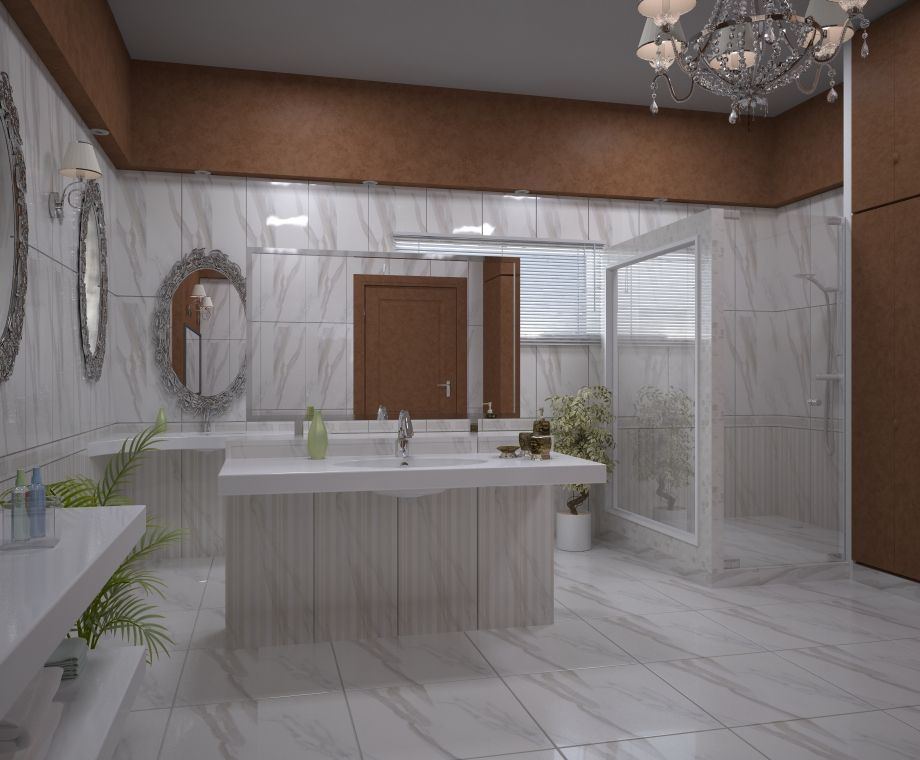 Unique Bathroom Constructed By Amer Adnan Associates