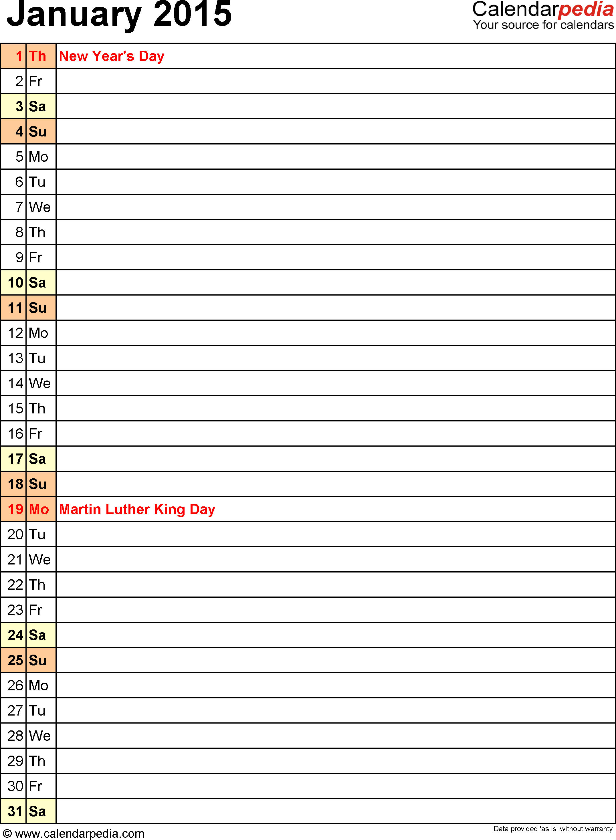 fall 2015 calendar template
