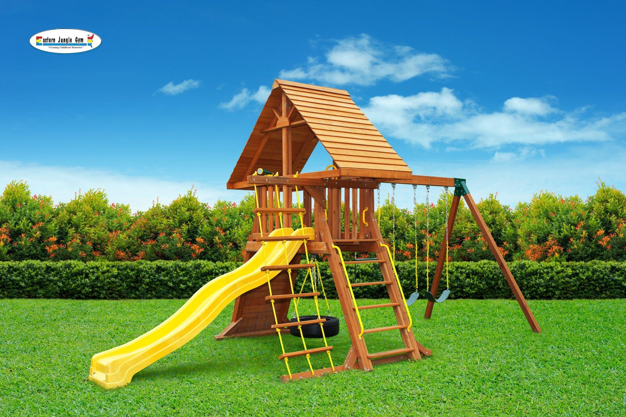 Supremescape swing set 5   Swing set, Wooden swing set ...