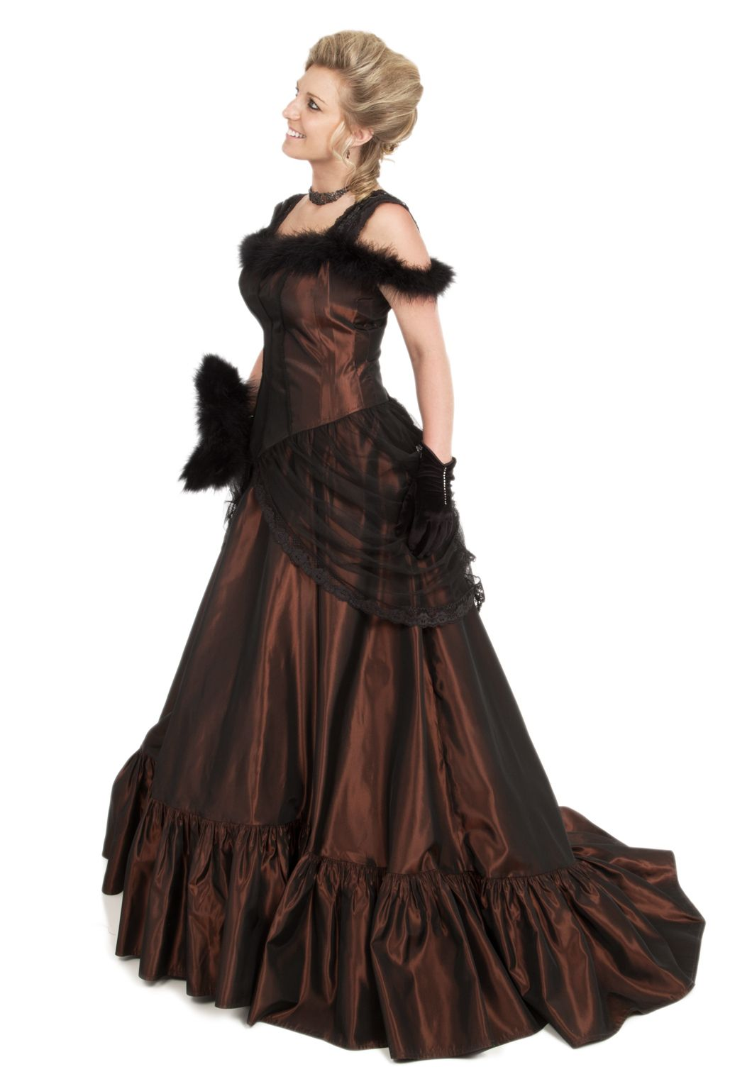 Old Western Taffeta Dress