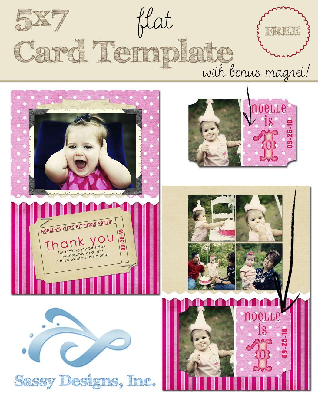 Birthday 5x7 Flat Card Template W Magnet Sdi Ft0004 It S Free Sassy Desi