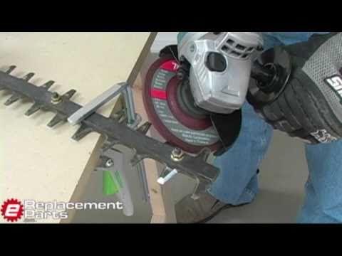 How to Sharpen Hedgetrimmer Blades - YouTube | garden