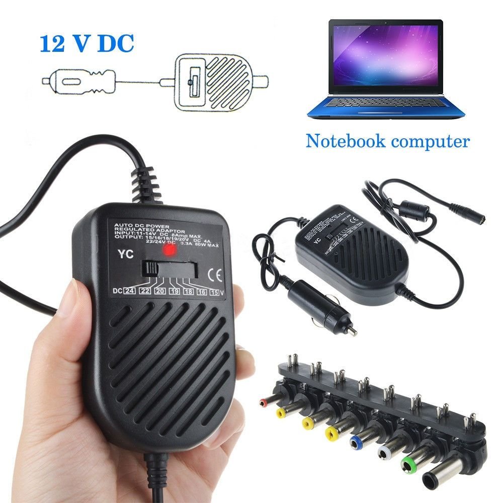 Universal Laptop Notebook Car Auto Charger Power Supply Adapter 15V-24V