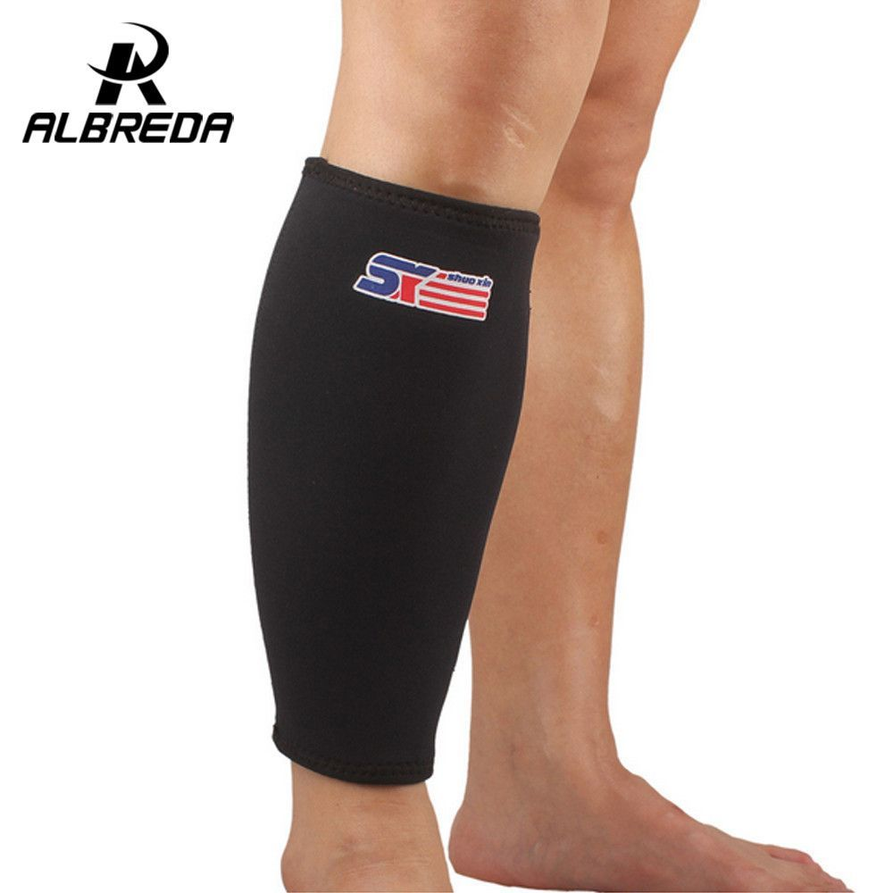 c4613b11451cad Neoprene Nylon Basketball Leg Sleeve Outdoor Sports Running Compression Calf  Sleeves Calf Stretch Leggings Support knee pads