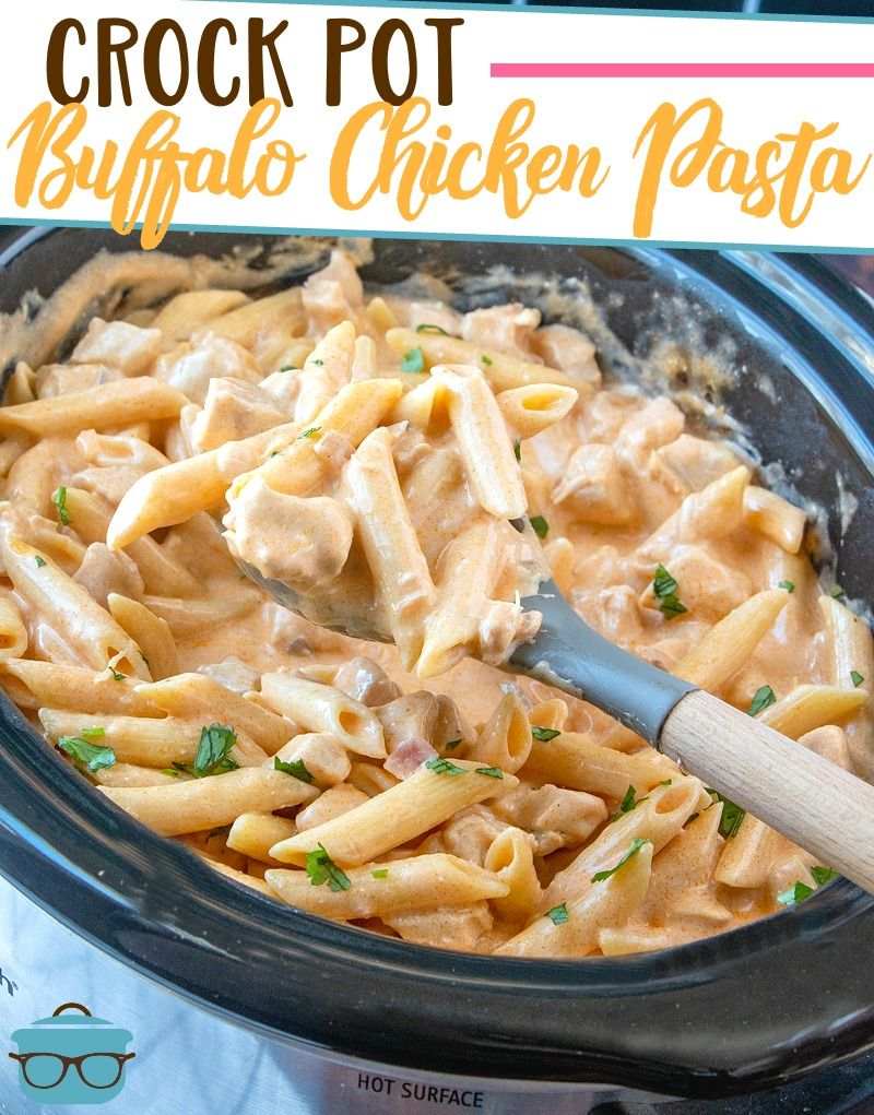 CROCK POT BUFFALO CHICKEN PASTA | The Country Cook