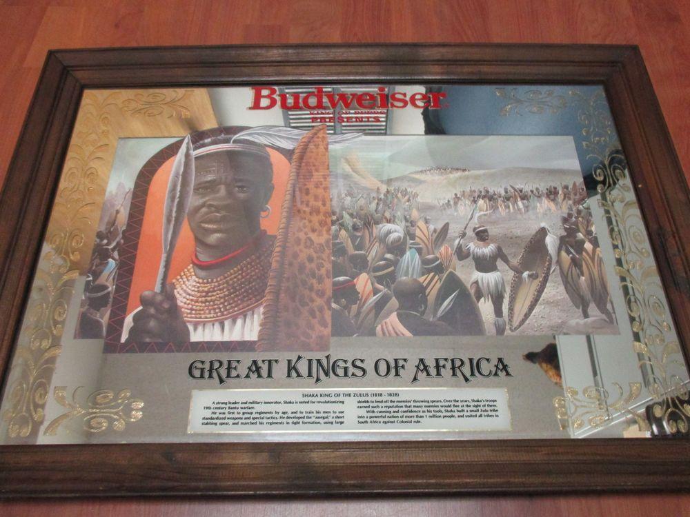 Vintage 1980 Budweiser GREAT KINGS of AFRICA Shaka King of the Zulus ...
