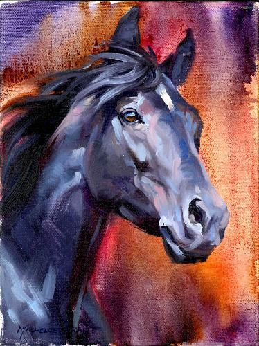 Indigo Night by Michelle Grant ~  Michelle Grant has been featured in Horses in Art magazine many times. Her art is beyond compare! www.horsesinart.com