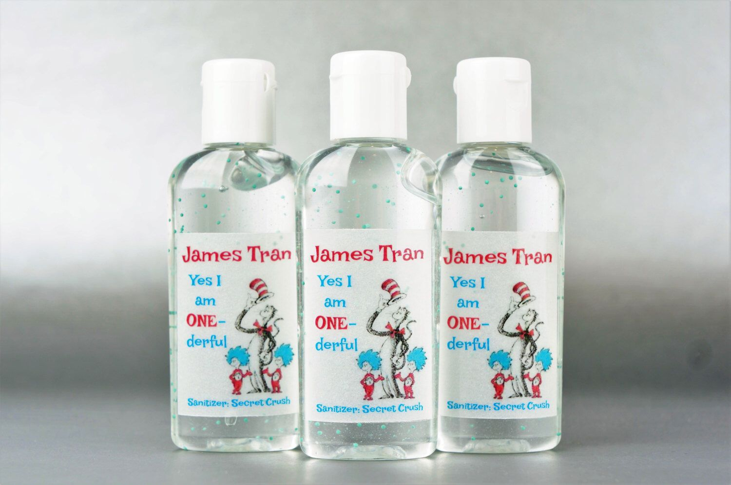 Personalized Dr Seuss 1st Birthday 1oz Hand Sanitizer By