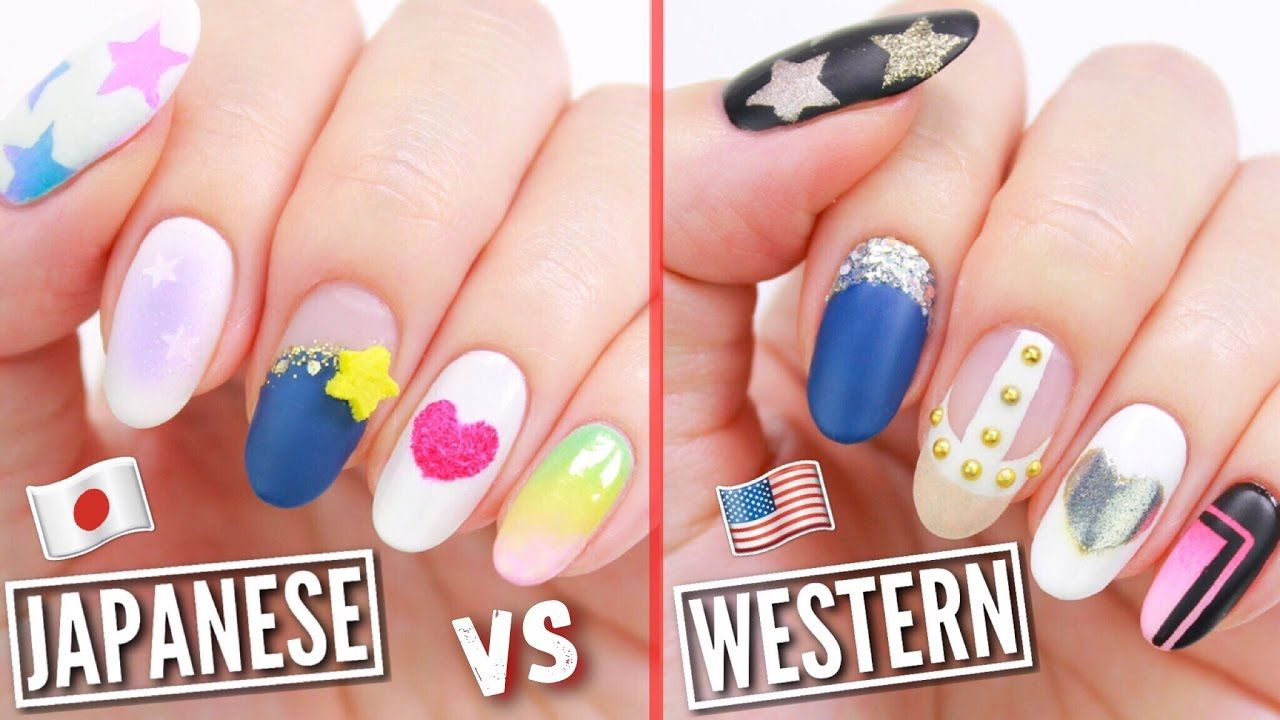 JAPANESE VS WESTERN NAIL ART! | Nail Designs Tutorials | Pinterest ...