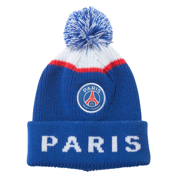 Paris Saint Germain Pom Beanie Worldsoccershop Com Worldsoccershop Com Soccer Gifts Soccer Accessories Paris Saint Germain