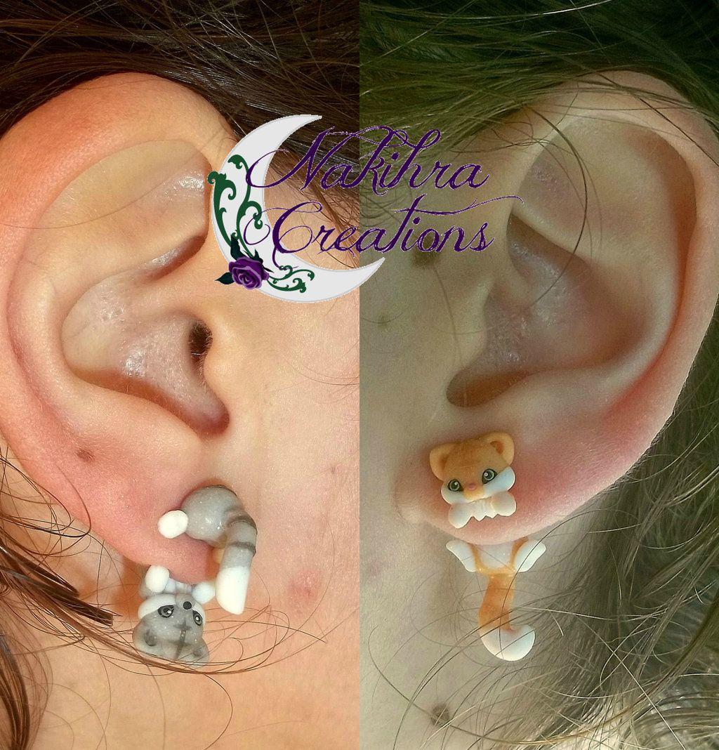 Cute Kittens Earrings by Nakihra.deviantart.com on @DeviantArt