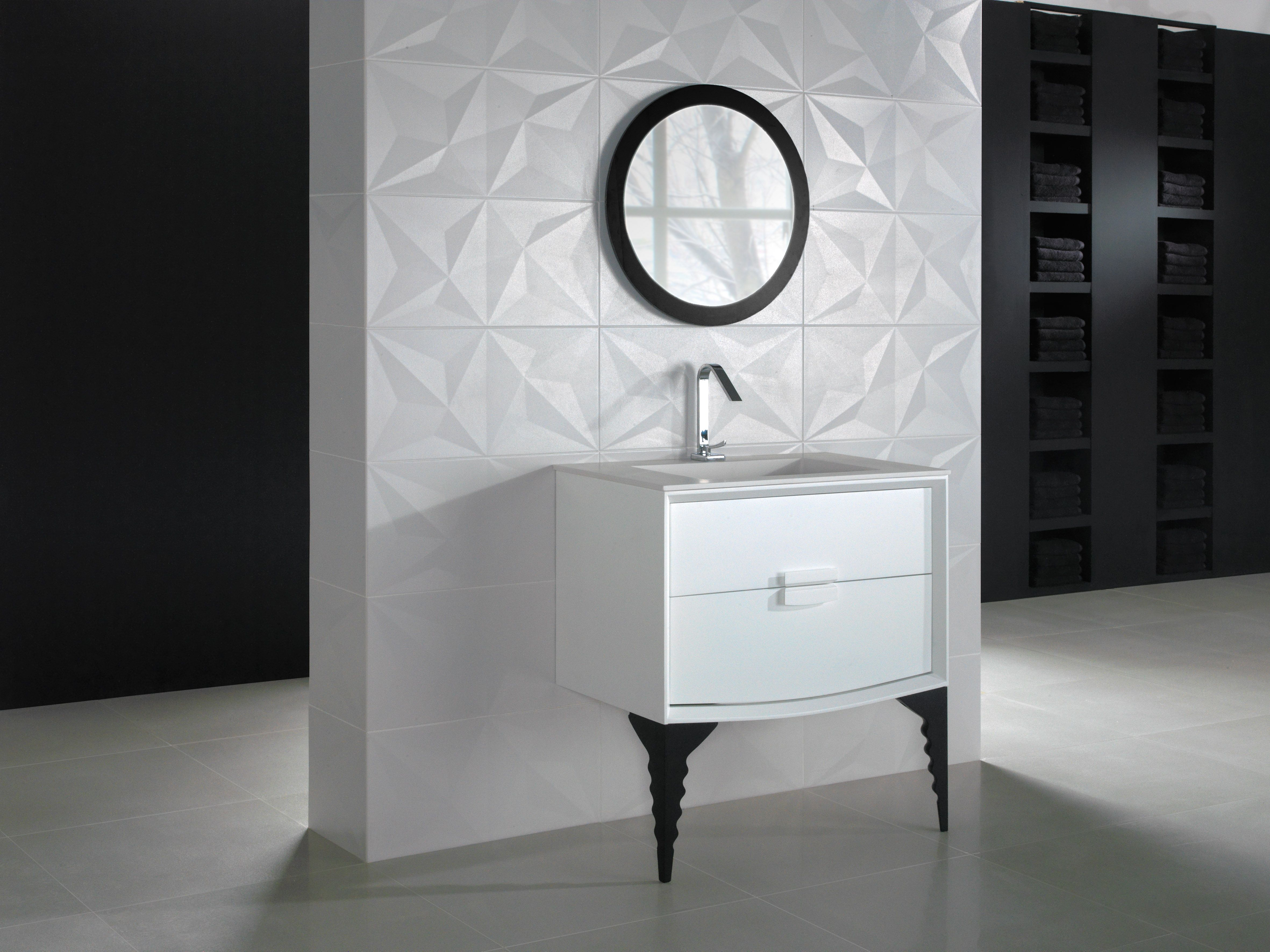 Gallery Blanco With Patas 4 Feet And Mirror Serie Grespania Bathroom