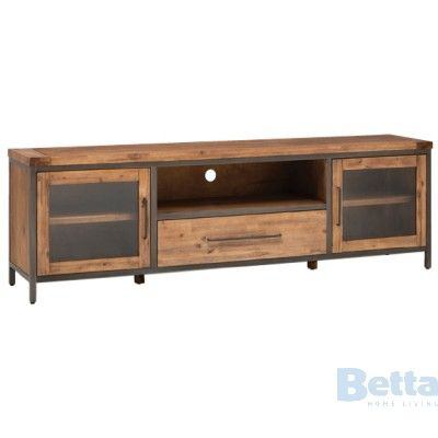 Pullman Tv Unit 2 Door, 1 Drawer, Solid Fsc Ac BIG Deals Online And In Store !