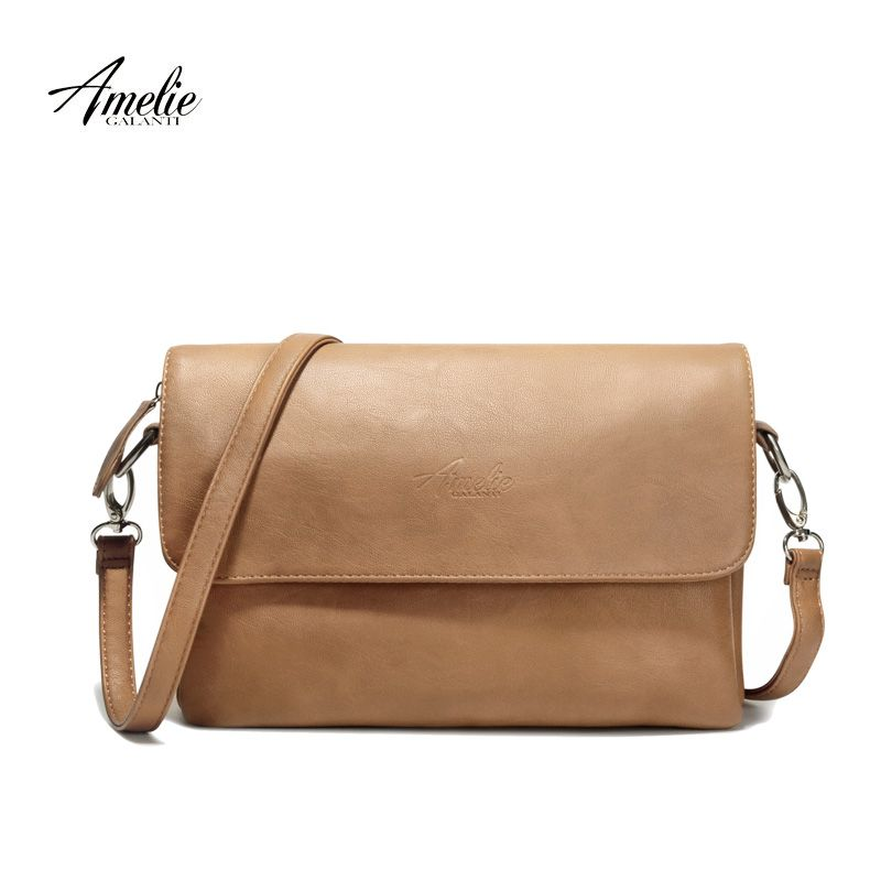 AMELIE GALANTI brand crossbody bag casual flap pu solid soft zipper cover  versatile single high quality cotton famous designer   Price   44.00   FREE  ... 589c17e2eedab