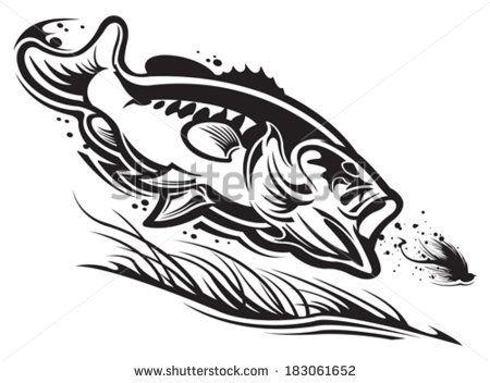 b9dd258e05de6 black largemouth bass tattoo - Google Search Tribal Drawings, Tribal Tattoos,  Diy Screen Printing