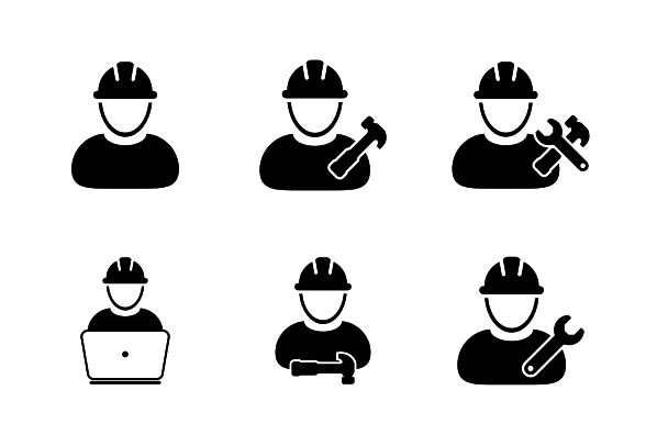 Worker Icons Construction Engineer Craftsmen Workman Icons Icons By Tuktuk Design Icon Craftsman Colorful Backgrounds