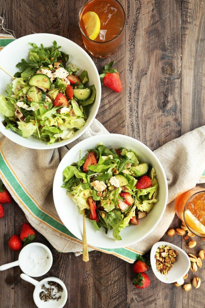 Strawberry Spring Salad With Cucumbers And Feta Opskrift Salads