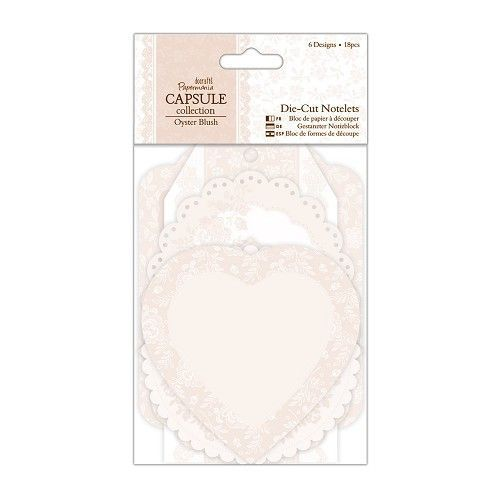 Docrafts Papermania Die-Cut Notelets (18 pcs) Capsule Collection Oyster Blush