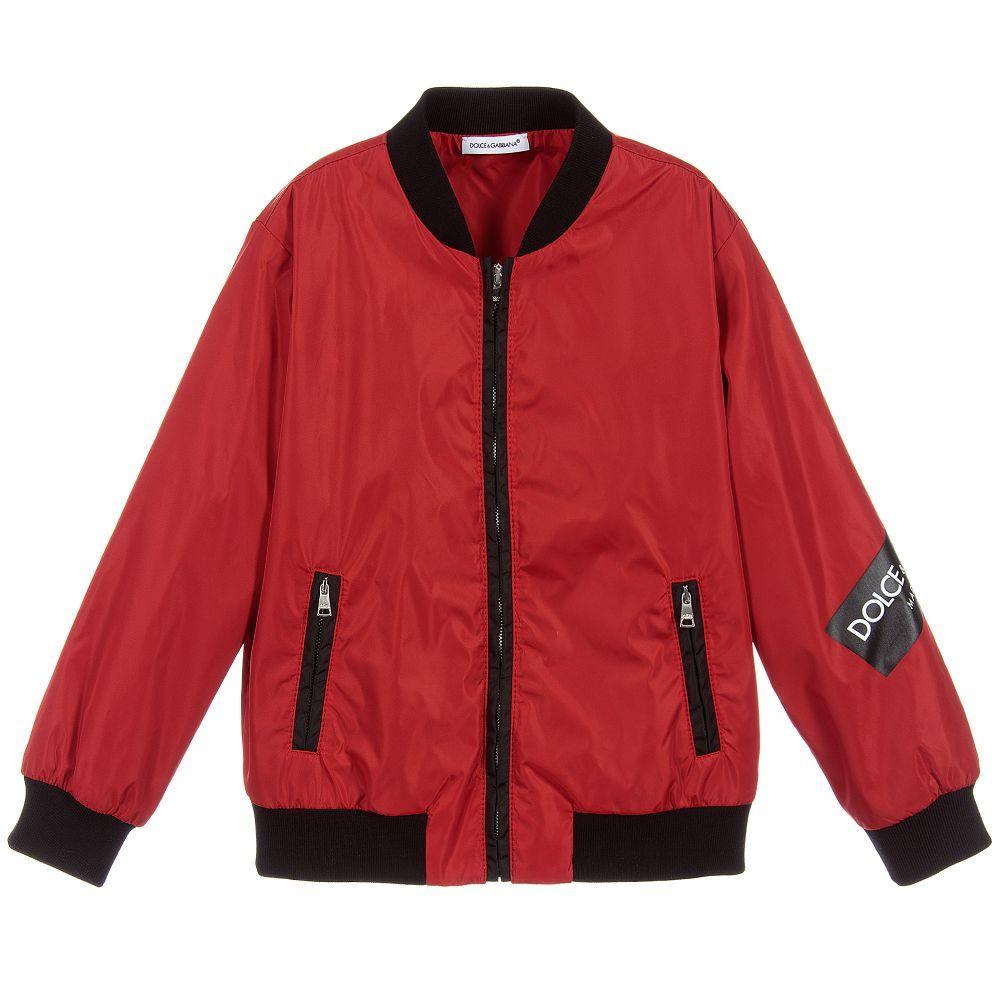 902eec32c Dolce   Gabbana - Red Zip Up Bomber Jacket