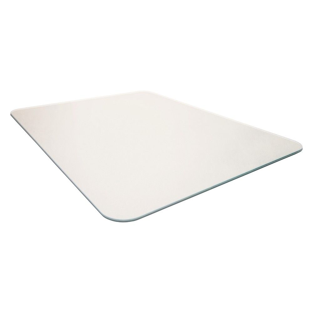 Glacier Mat Reinforced Glass Chair Mat Executive Chair Mat For Hard Floors All Pile Carpets 36 X48 Cleartex